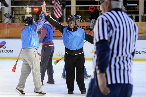 Volunteers of America Broomball Game